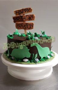 Dinosaur Cake for Preston