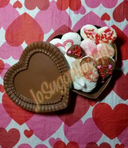 Chocolate Heart Box with Meringues
