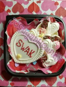 White Chocolate Heart Box with Meringues