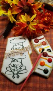 Paint-Your-Own Turkey Cookie