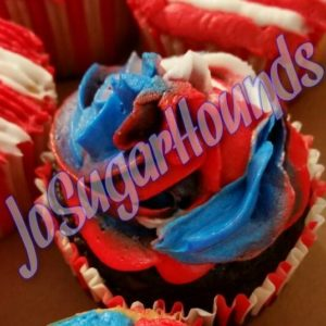 Tri-color Frosted Cupcake