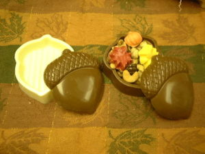 Chocolate Acorn filled with treats