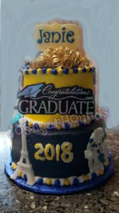Graduation Side of Double cake