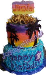 Tropical Side of Double Sided Cake